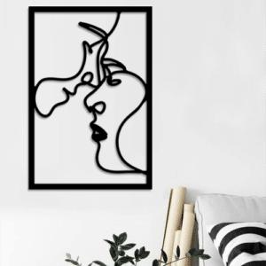 Couple Love – 60/40 cm – en Bois Noir