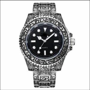 HONMIN – montre classique Vintage à grand anneau pour hommes, montre de luxe à Quartz avec ceinture en acier et boîte-cadeau