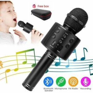 Microphone Karaoké Bluetooth - Noir