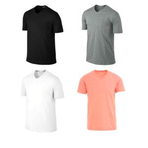 T-shirts pour Homme ,col v ,Tissu coton piqué,manches courtes,coupe cintré.
