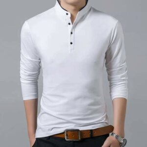 Pull Homme Blanc Manches Longues Coton