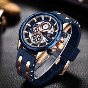 CURREN De Luxe Hommes Sport Montre-Bracelet Étanche Chronographe Acier Inoxydable Shopa Tunisie